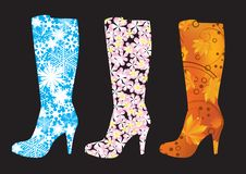 Abstract Boots. Royalty Free Stock Photography