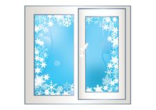 Free Window On A Winter Background. Royalty Free Stock Photo - 17709865