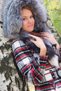 Free Portrait Of A Girl With A Fur Hood Royalty Free Stock Photos - 17711318