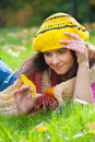 Free Beautiful Girl Lying On A Grass Royalty Free Stock Image - 17711346