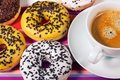 Free Donuts With Cup Of Coffee Stock Image - 17714591