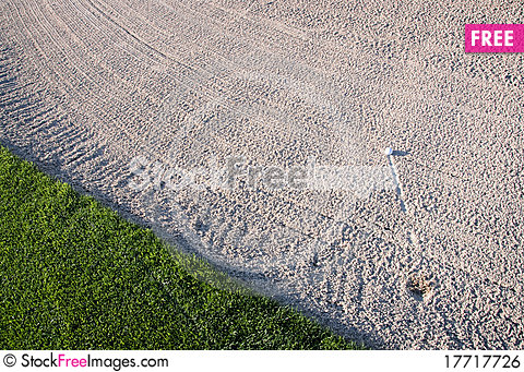 Free Golf Ball In Sand Trap Royalty Free Stock Image - 17717726
