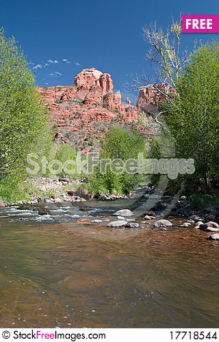 Free Cathedral Rock At Red Rock Crossing, Sedona, AZ Stock Images - 17718544