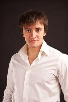 Free Adult Guy On Black Backdrop Stock Images - 17710004