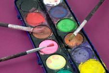Box Of Watercolor Stock Image