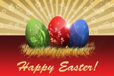 Free Happy Easter Greetings Card Stock Photography - 17711552