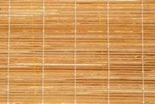 Texture Of Wooden Mat Stock Image