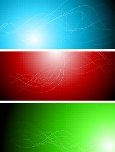 Free Banners With Abstract Lines Royalty Free Stock Image - 17712396