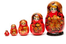 Free Russian Nesting Dolls Royalty Free Stock Images - 17712539