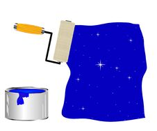 Painting Tools Platen Drawing Sky Royalty Free Stock Images
