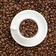 Free Cup With Beans Stock Photography - 17713442