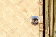 Free Door Knob On The Bamboo Hut Stock Images - 17713464