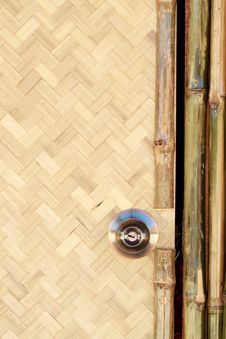 Free Door Knob On The Bamboo Hut Stock Photography - 17713512