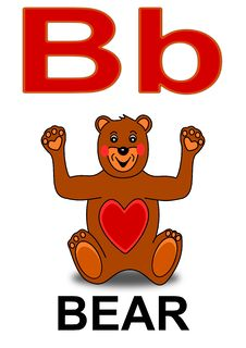 Free Letter B Bear Royalty Free Stock Image - 17713516