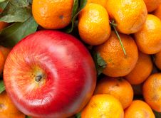 Apple And Tangerine Royalty Free Stock Image