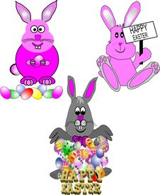Free Cartoon Bunnies Royalty Free Stock Photos - 17713958