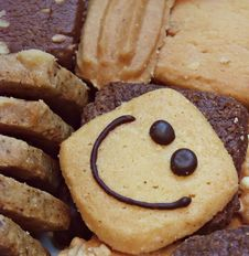 Free Smiling Cookies - Background Resources Royalty Free Stock Image - 17714636
