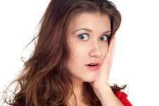 Free Close-up Of A Young Woman Looking Shocked Royalty Free Stock Photos - 17716268