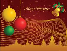 Free Merry Christmas Vector Background Royalty Free Stock Images - 17716659