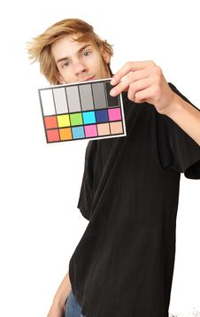18 Gray White Balance Color Card Stock Photos