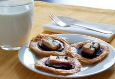 Puff Pastry With Beet And Blue Cheese Stock Photos