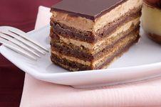 Free Chocolate Layer Cake Stock Photo - 17716860