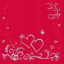 Free Red Valentine Background Royalty Free Stock Photo - 17717485