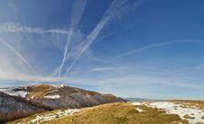 Free Mountain Ridge Panorama. Carpathian Mountains Royalty Free Stock Image - 17717536