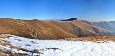 Free Mountain Ridge And First Snow Panorama Royalty Free Stock Photos - 17717558