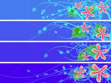 Free Separated Floral Banner Set Stock Photo - 17717580