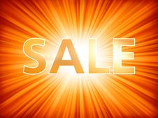 Shopping Sale Poster. EPS 8 Stock Photography