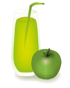 Free Glass Of Apple Juice Royalty Free Stock Photography - 17717617