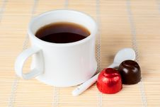 Free A Cup Of Tea With Sweets. Stock Photography - 17718102
