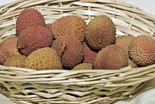 Free Lychee In Basket Royalty Free Stock Photography - 17718487