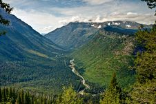 Free River Valley At Glacier Nat Park Stock Images - 17718534