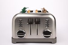 Free Toy Soldiers Playing In Toaster Stock Image - 17718871