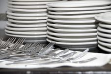 Free Plates And Forks Royalty Free Stock Image - 17718876