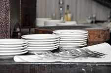 Free Plates And Forks Stock Image - 17719081