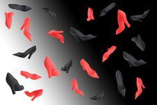 Ladies Stilettos Royalty Free Stock Image