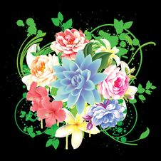 Free Abstract Floral Background Royalty Free Stock Photos - 17719248
