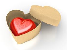 Free Red Heart In Box Royalty Free Stock Photography - 17719457