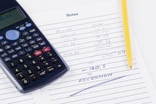 Free Bills Calculation Royalty Free Stock Image - 17719516