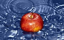 Free Red Apple In Water Stock Image - 17719831