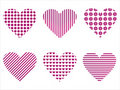 Free Set Of 6 Hearts Icons Stock Photos - 17726103