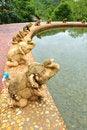 Free Elephant Statue At Pool Stock Photo - 17726980