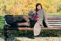Free Girl In The Park On A Bench Stock Photography - 17727082