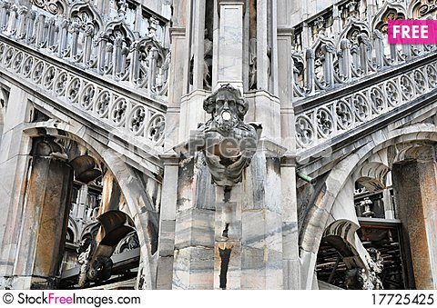 Gothic Church Architecture With Gargoyle In Italy