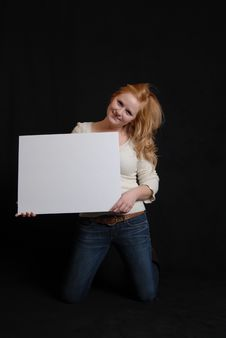 Free Woman With White Board Royalty Free Stock Photo - 17720245