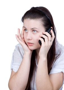 Free The Woman With A Cellular Telephone Stock Images - 17720734