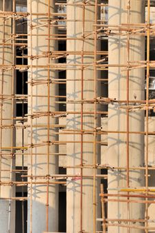 Free Scaffold Of Building Under Construction Royalty Free Stock Photography - 17720867